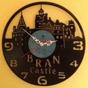 Cadou - Ceas perete disc vinil Castelul Bran